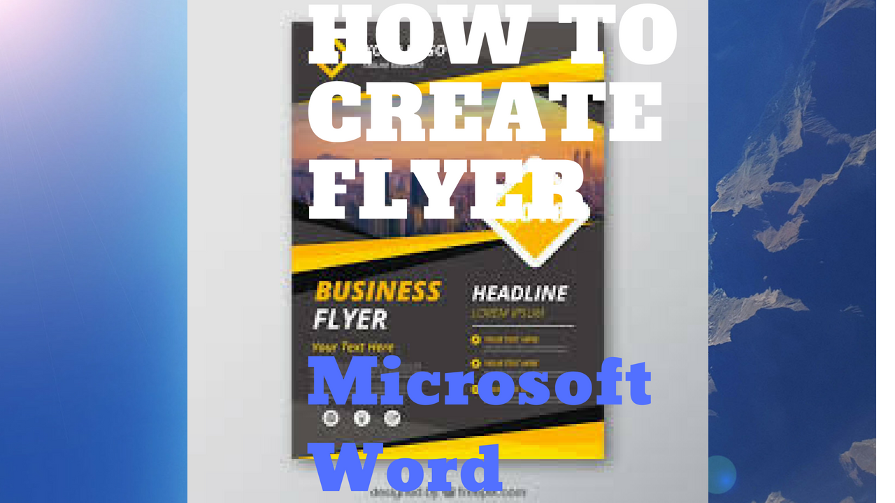 how to make a flyer on word