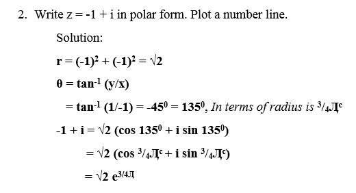 Example of polar form