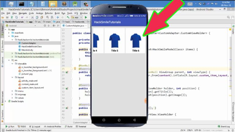 How to Create Android Horizontal Scrolling RecyclerView