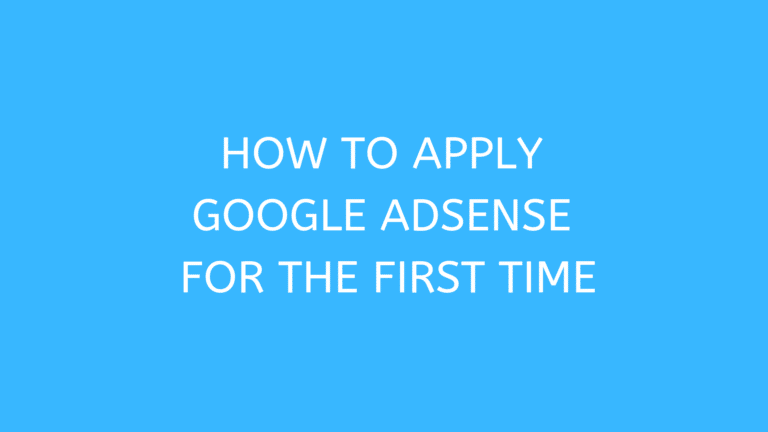 Get Started with AdSense, How to Create an AdSense Account