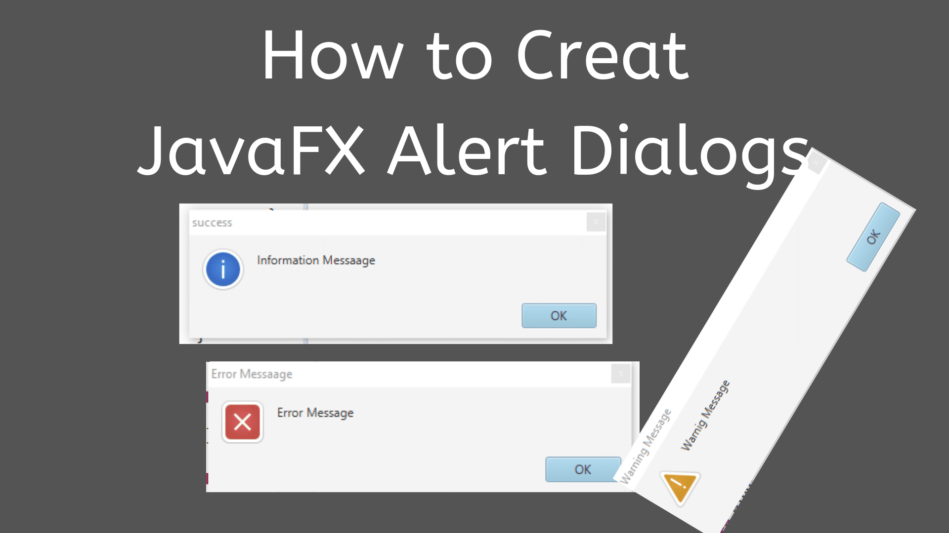 How to Create JavaFX Alert Dialogs