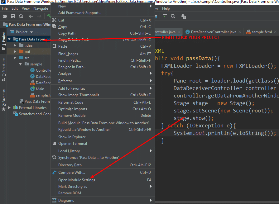 How to add Jar Files to IntelliJ Project, Step 1
