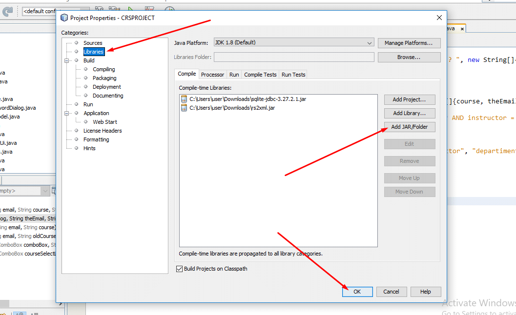 How to add jar file in Netbeans IDE step 2