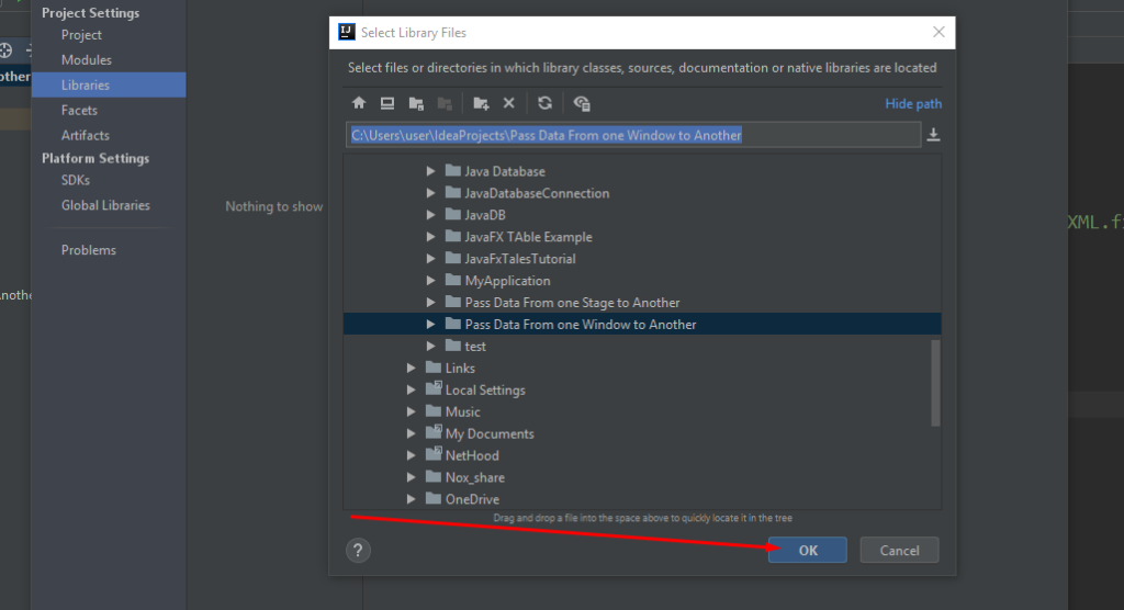 How to add jar files to Intellij Project Step 4