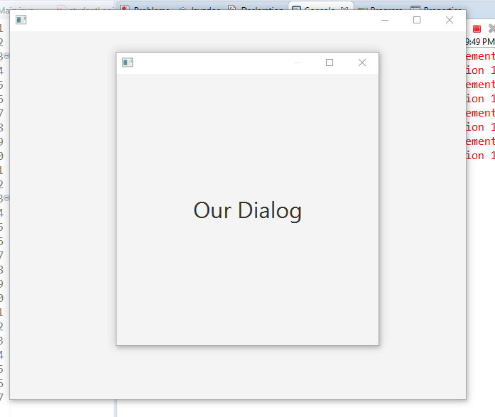 How to create Dialog in JavaFX