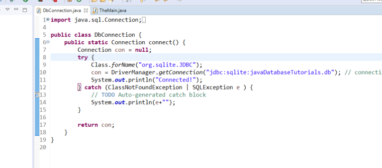 How to Connect any Java Program to a Database