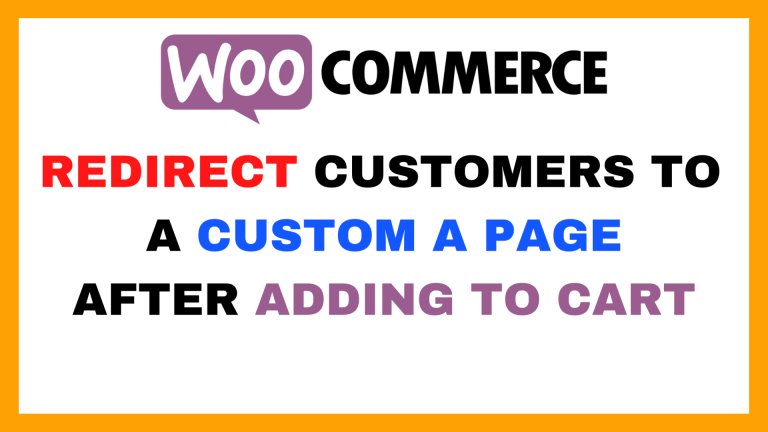 Redirect o a Custom Page after Adding to Cart in WooCoomerce