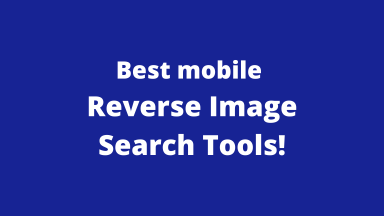 Find Photos with Mobile Reverse Image  Search